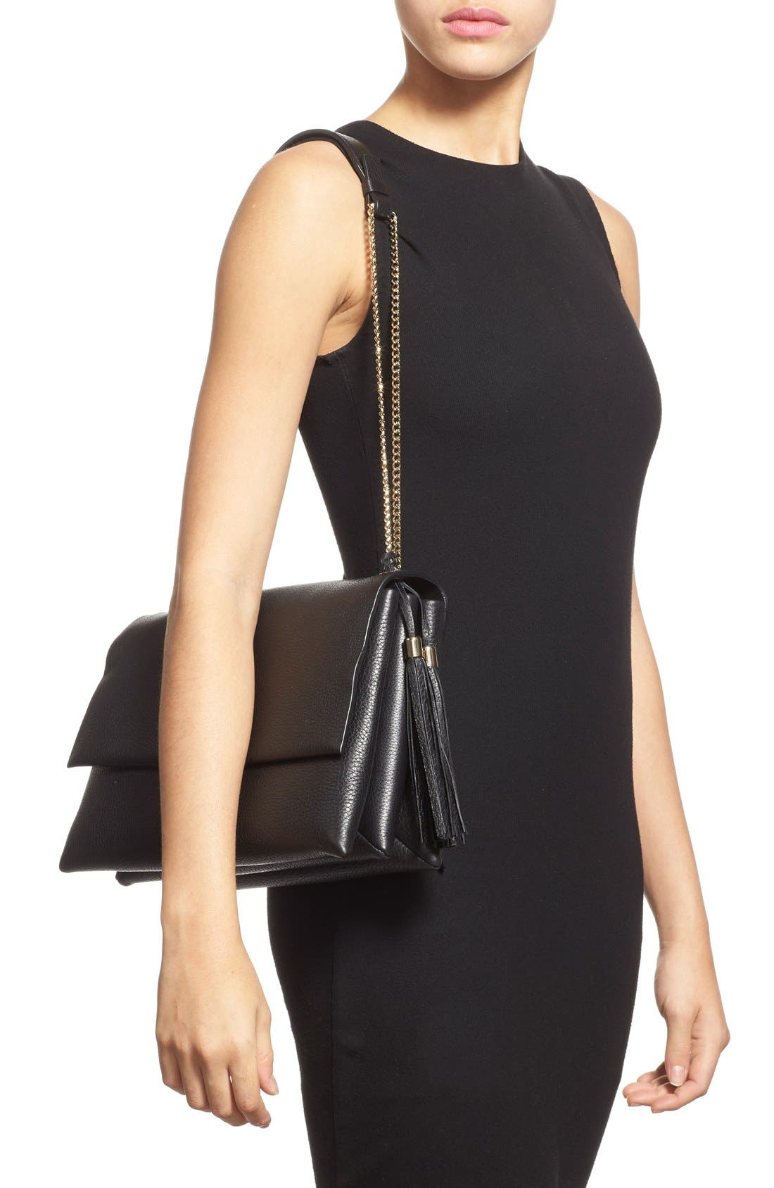 Alternate Image 2  - Lanvin 'Large Sugar' Tasseled Leather Shoulder Bag