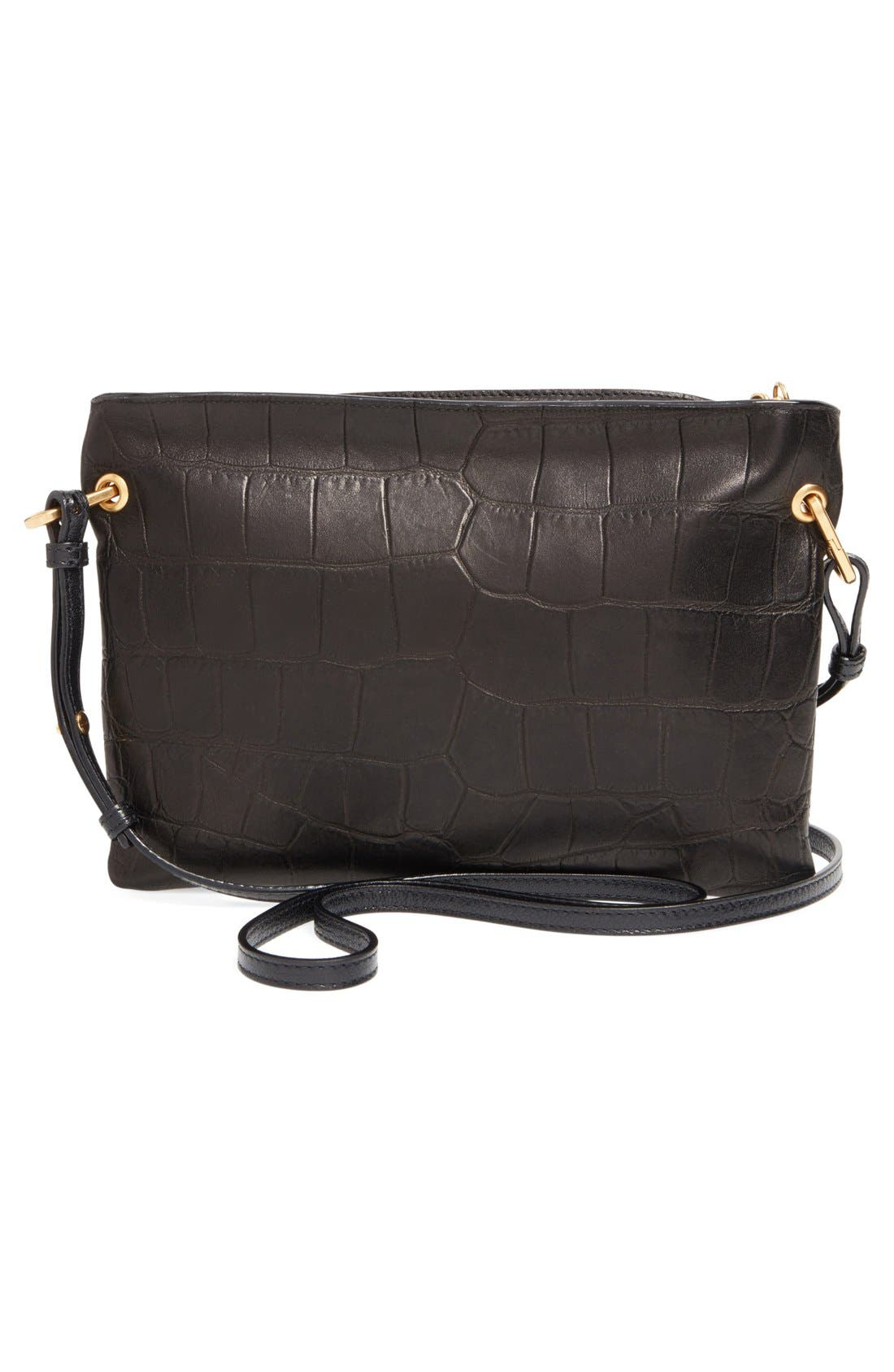 Alternate Image 3  - Jimmy Choo 'Mardy' Croc Embossed Leather Crossbody Bag