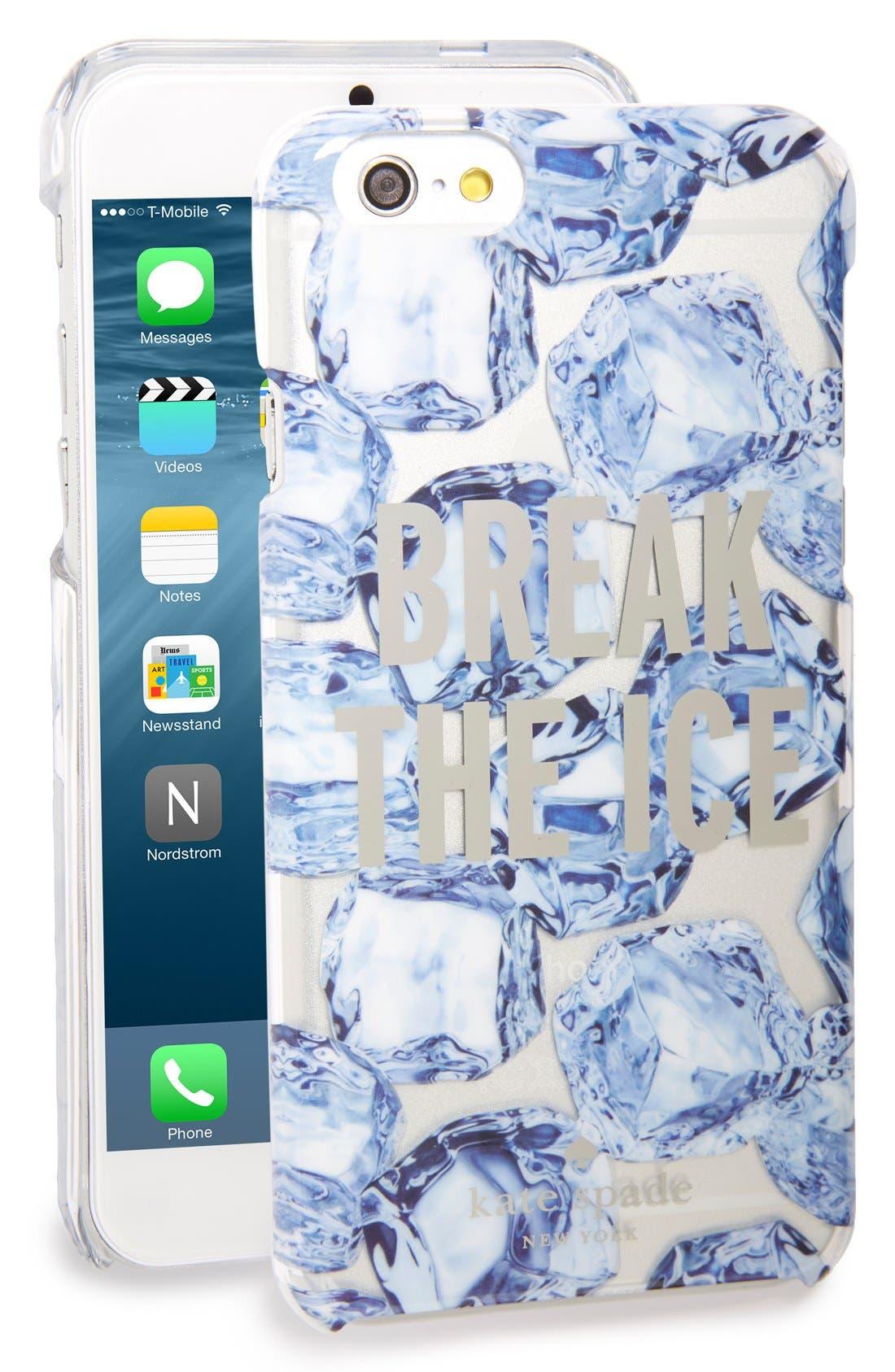 Main Image - kate spade new york 'break the ice' iPhone 6 & 6s case