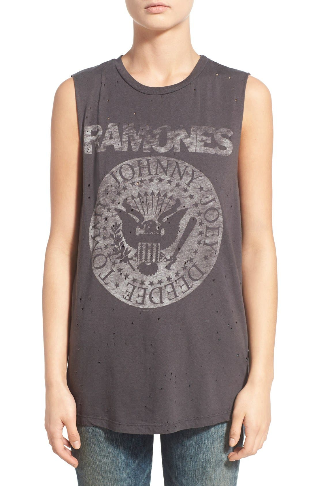 Alternate Image 1 Selected - Daydreamer 'The Ramones' Oversize Graphic Muscle Tee