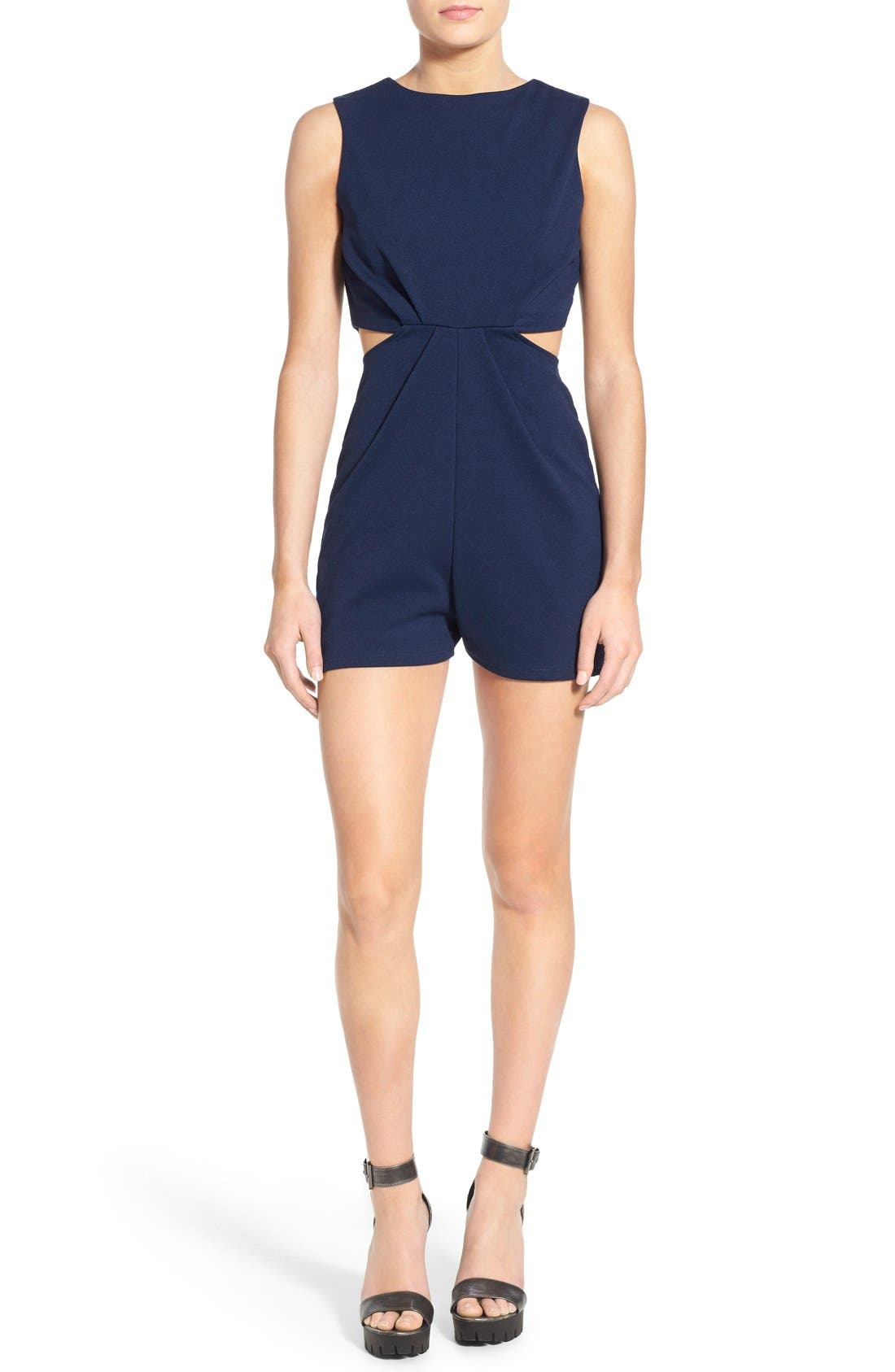 Alternate Image 1 Selected - Missguided Cutout Waist Romper