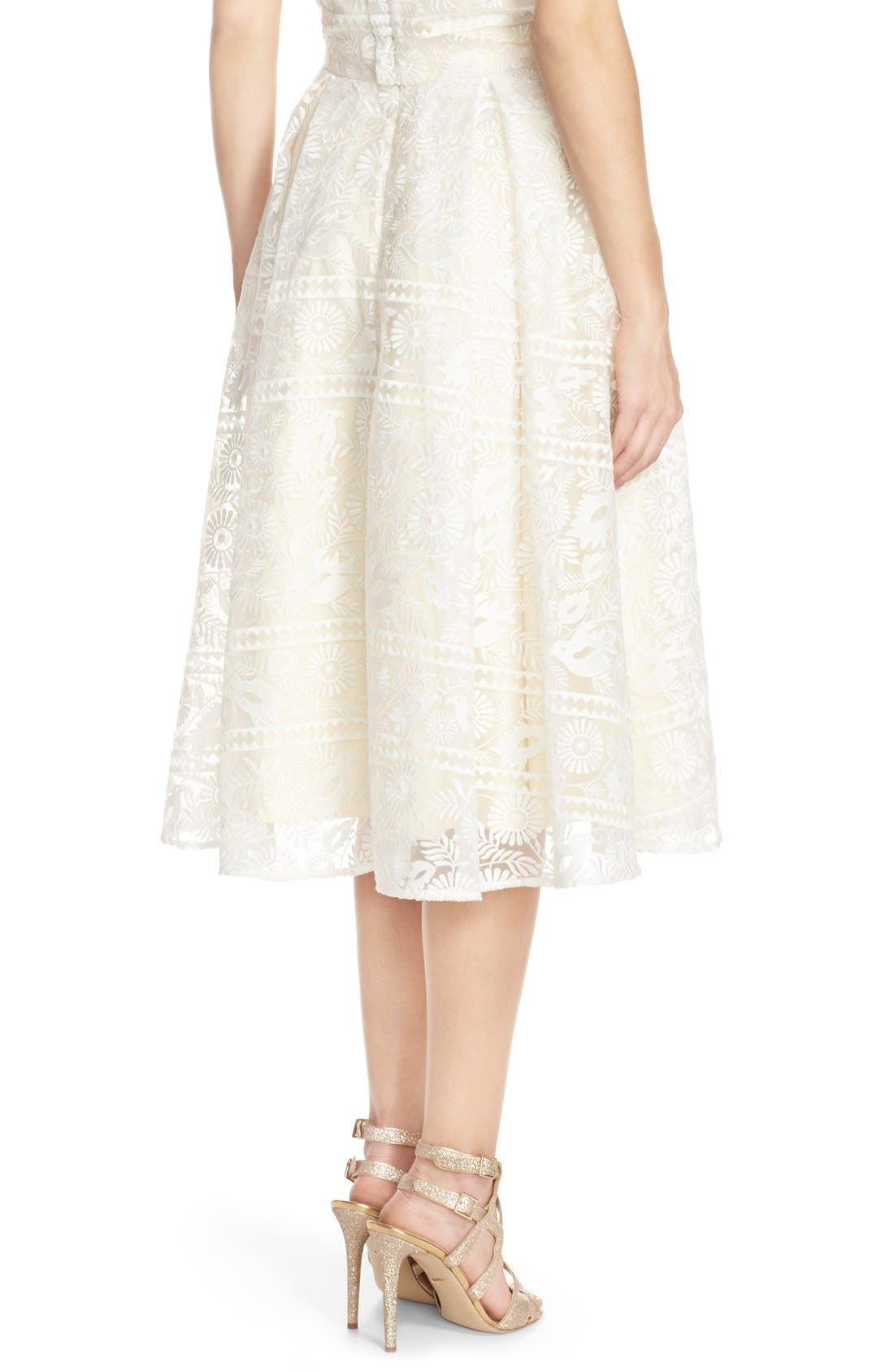 Alternate Image 3  - Paper Crown by Lauren Conrad 'Marietta' Lace Organza Full Skirt