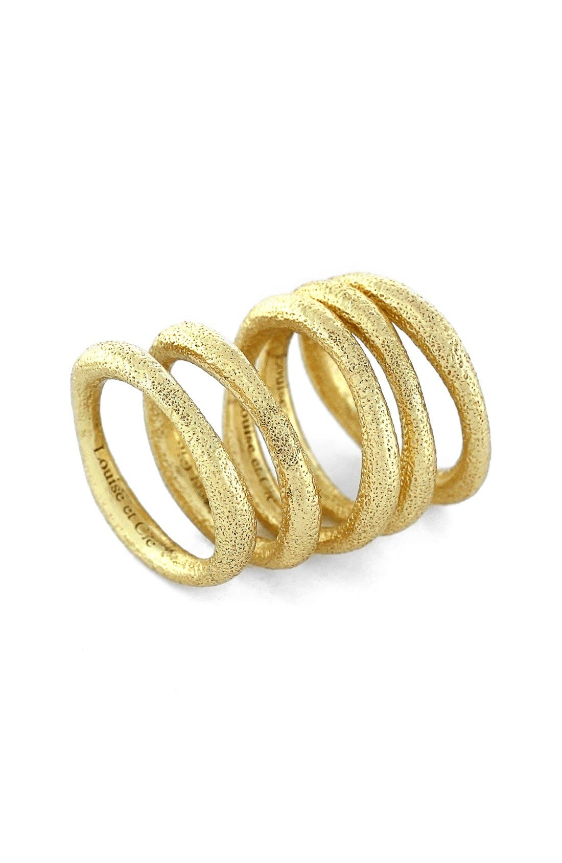 Alternate Image 1 Selected - Louise et Cie Textured Rings (Set of 5)