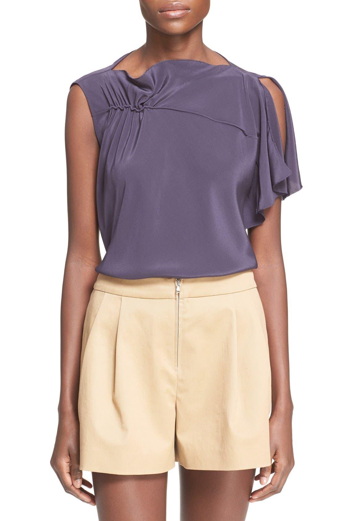 Alternate Image 1 Selected - 3.1 Phillip Lim Shirred Silk Top