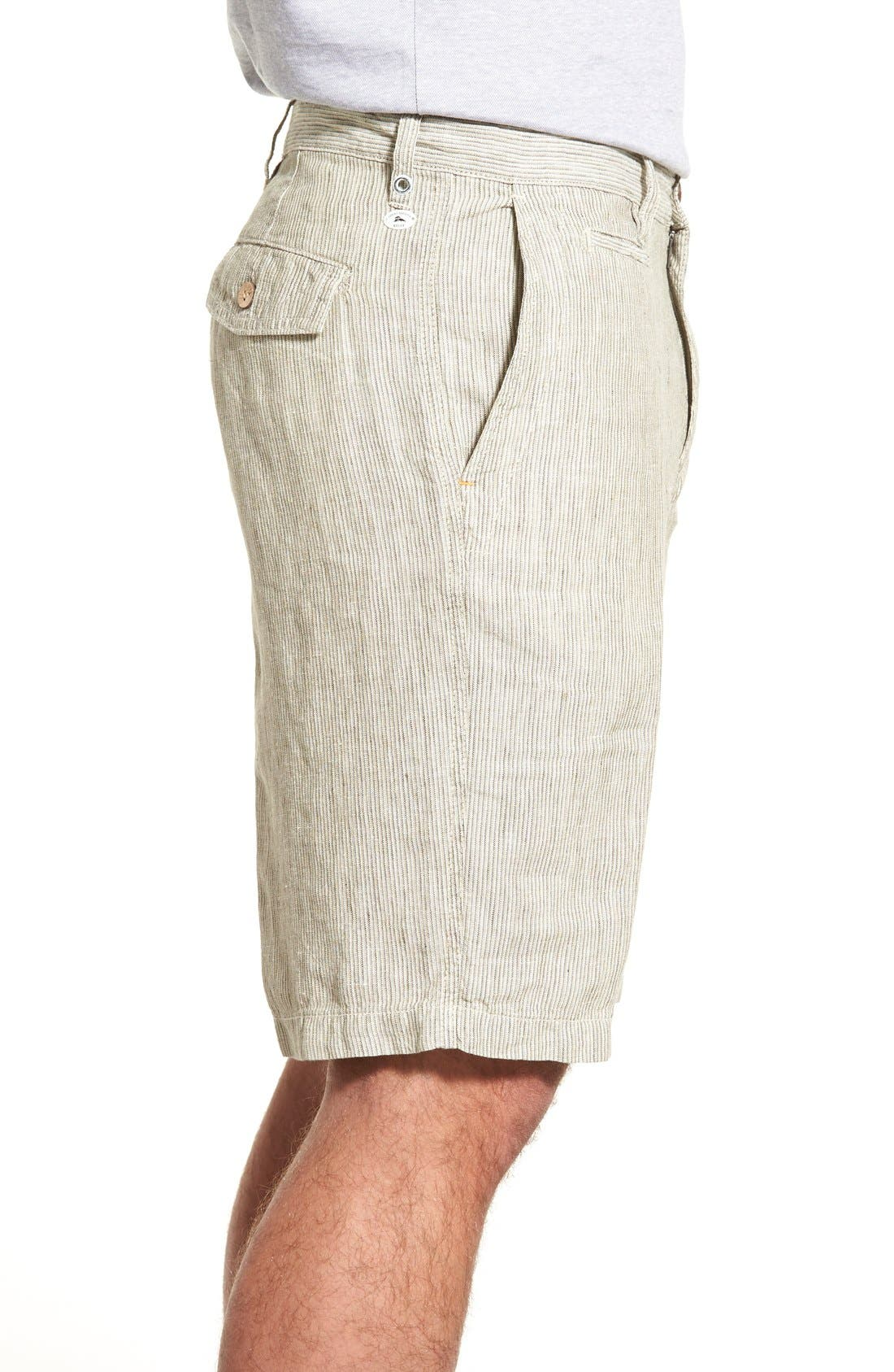 Alternate Image 3  - Tommy Bahama 'Line of the Times' Relaxed Fit Striped Linen Shorts