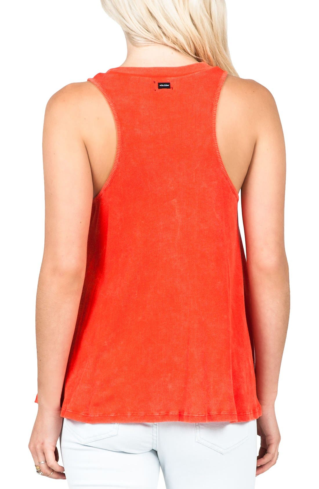 Alternate Image 2  - Volcom 'Cover Your Basics' Ribbed Racerback Tank