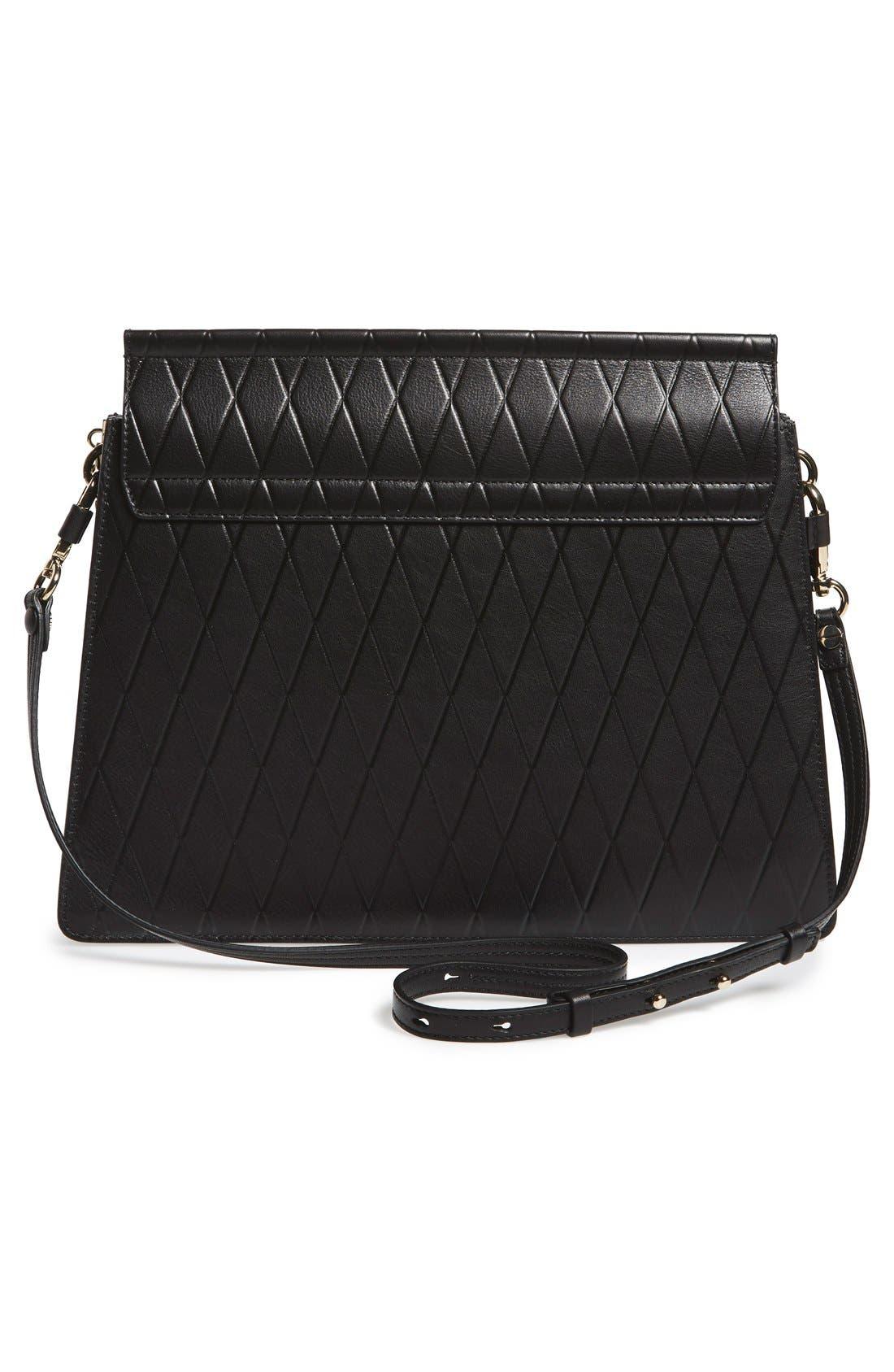 Alternate Image 3  - Chloé 'Medium Faye' Diamond Embossed Leather Shoulder Bag