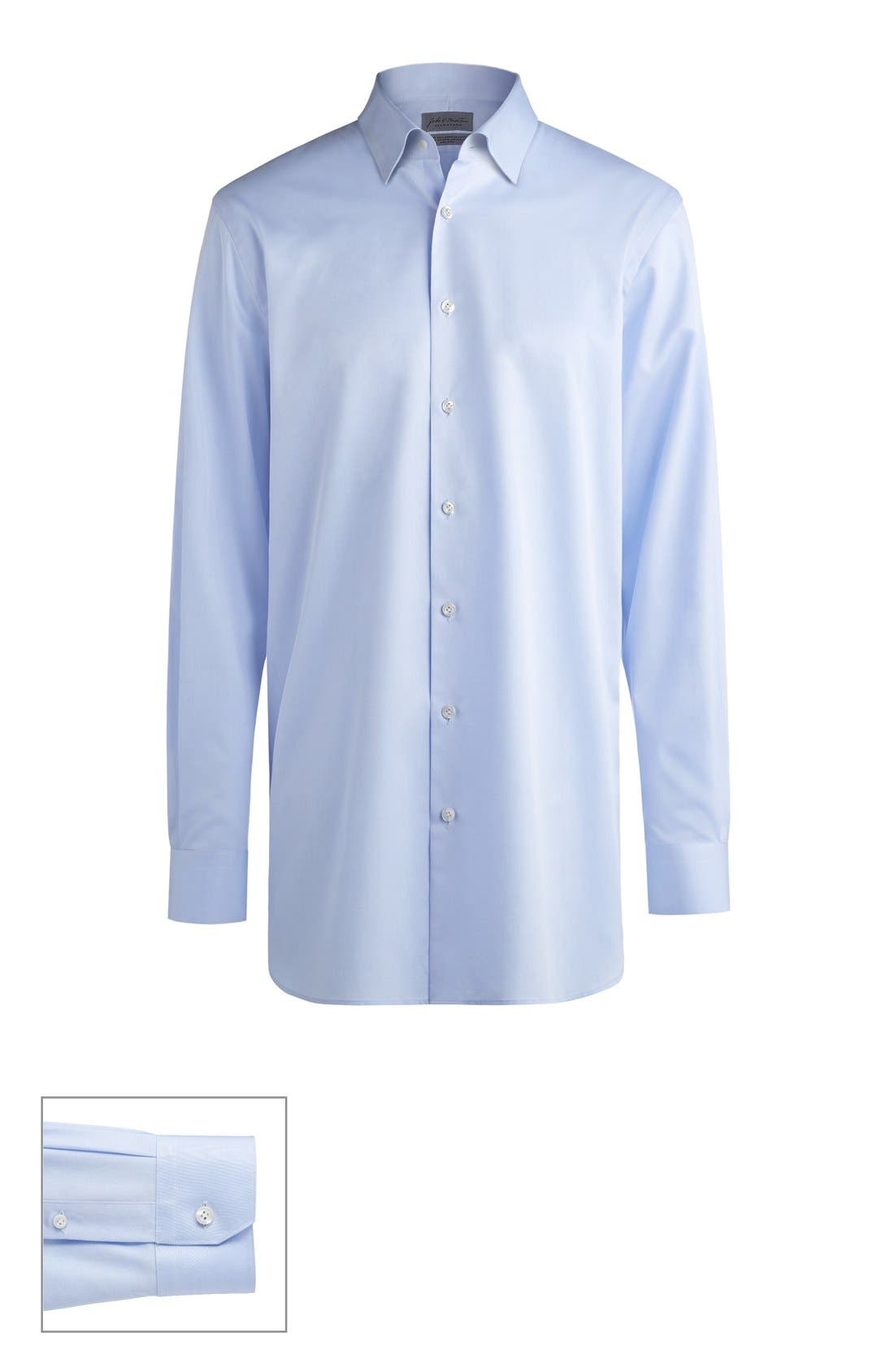 John W. Nordstrom® Made to Measure Extra Trim Fit Straight Collar Solid Dress Shirt