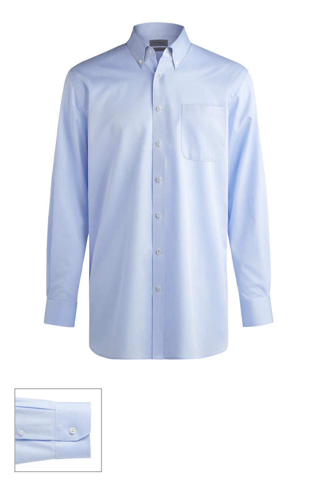 John W. Nordstrom® Made to Measure Traditional Fit Button Down Collar Solid Dress Shirt