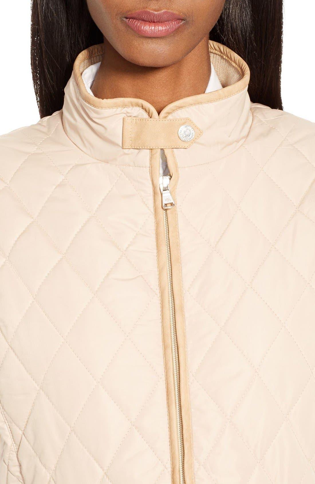 Alternate Image 3  - Lauren Ralph Lauren Faux Leather Trim Vest