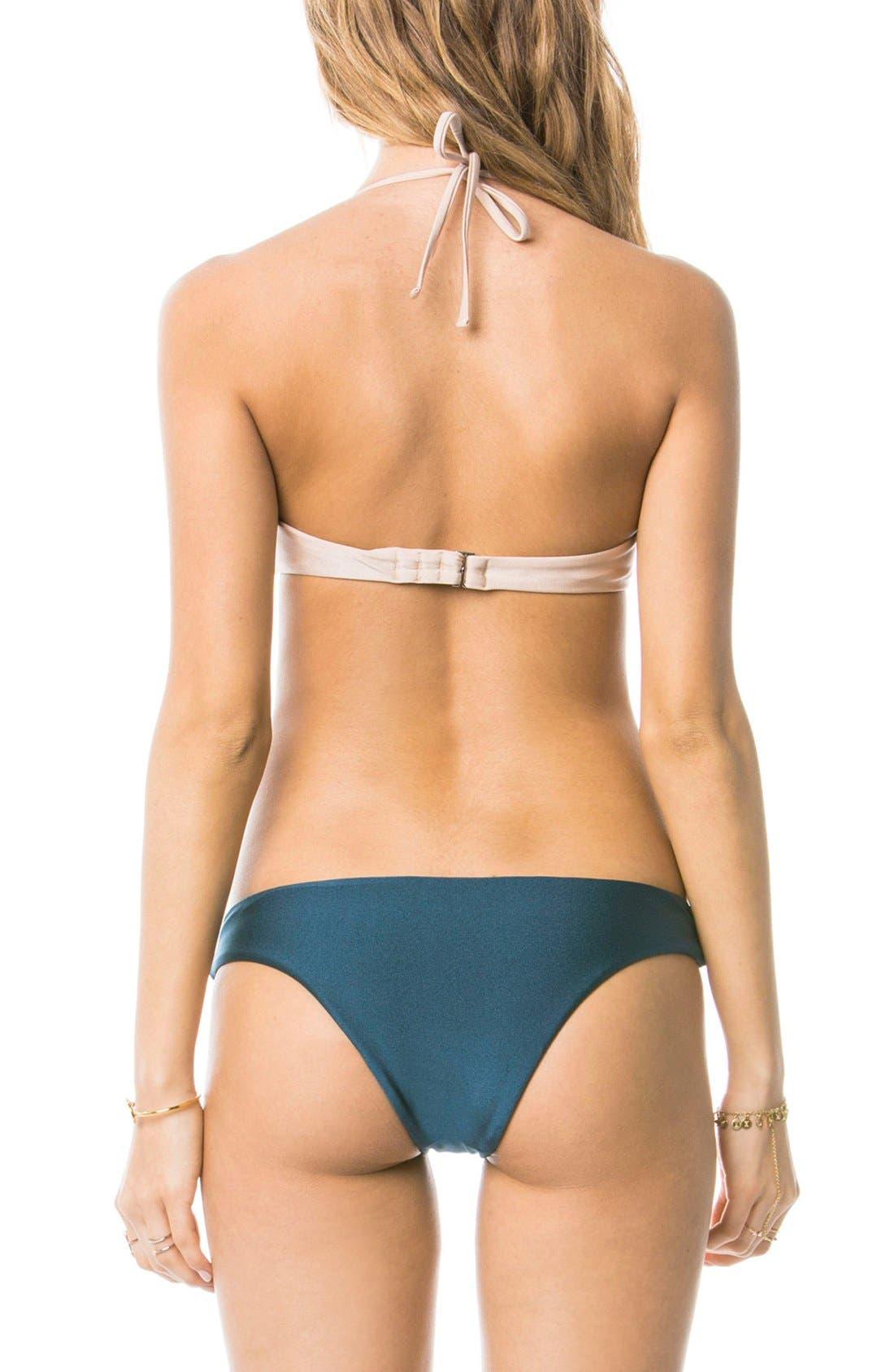 Alternate Image 2  - Amuse Society 'Elissa' Colorblock Bralette Bikini Top