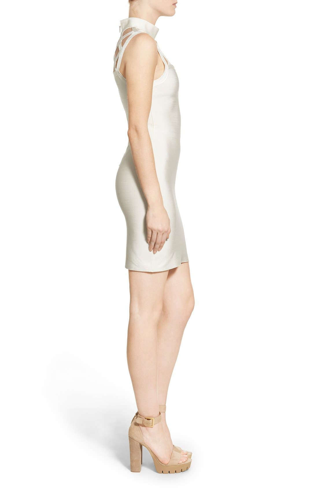 Alternate Image 3  - Missguided Grid Yoke Body-Con Dress