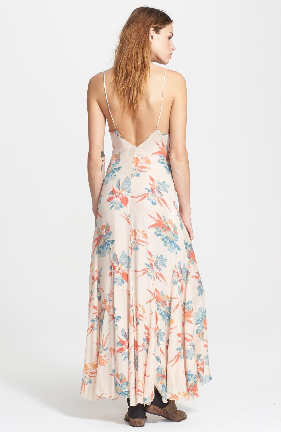 Alternate Image 2  - Free People 'Star Chasing' Floral Maxi Slip Dress