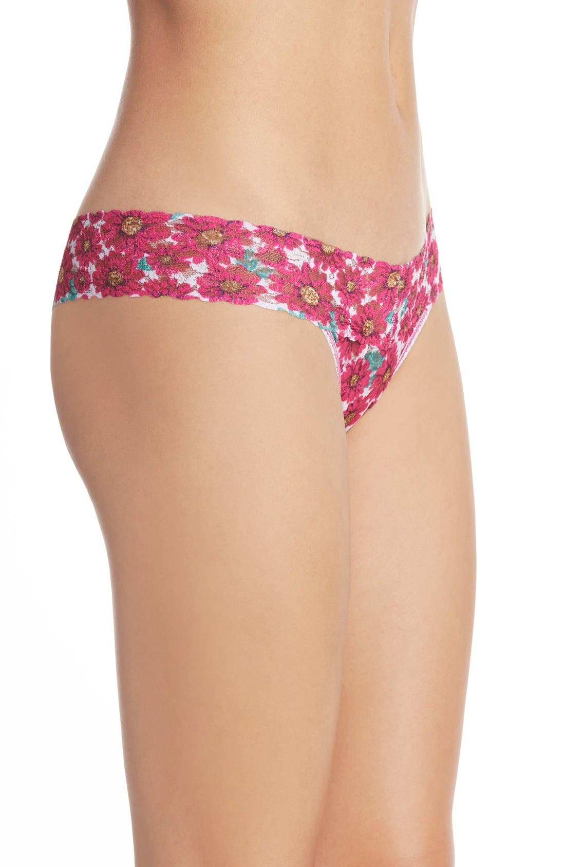 Alternate Image 3  - Hanky Panky 'Alluring Daisies' Low Rise Thong