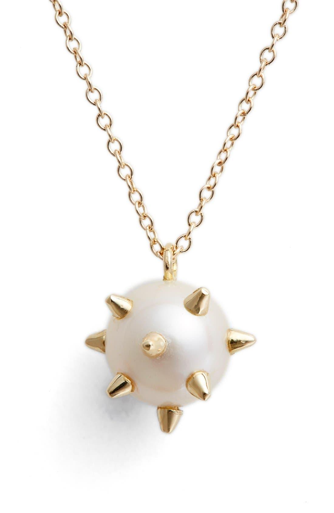 Alternate Image 1 Selected - Nektar de Stagni 'New Classics' Spike Cultured Pearl Pendant Necklace