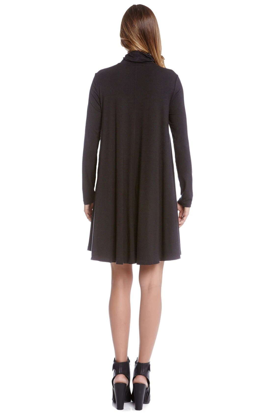 Alternate Image 2  - Karen Kane Turtleneck Swing Dress