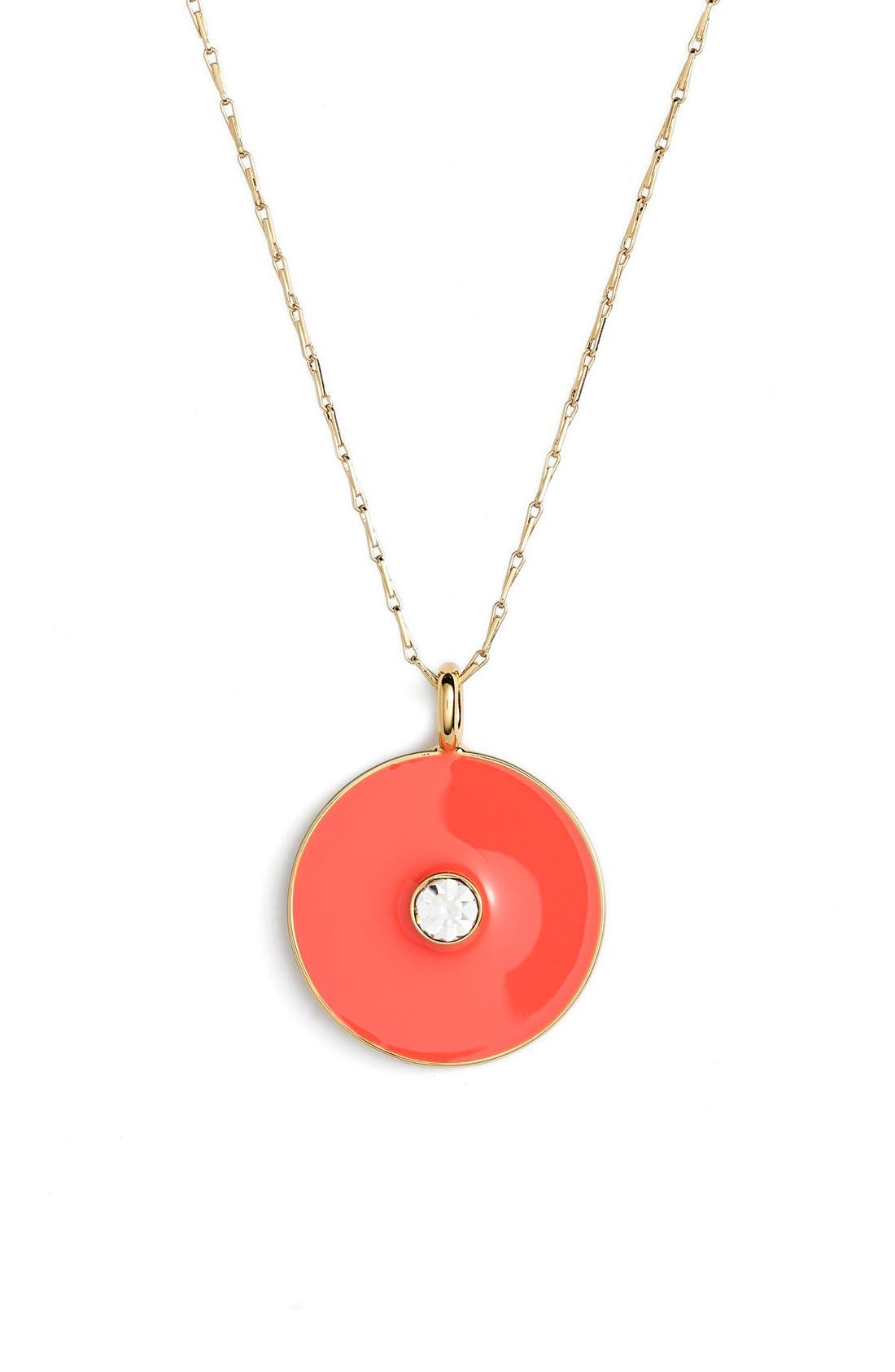 Alternate Image 1 Selected - kate spade new york reversible enamel pendant necklace