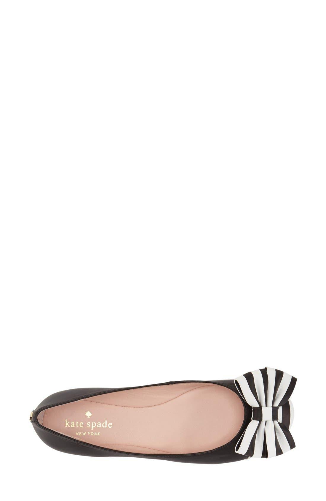 Alternate Image 3  - kate spade new york 'wallace' cap toe flat (Women)