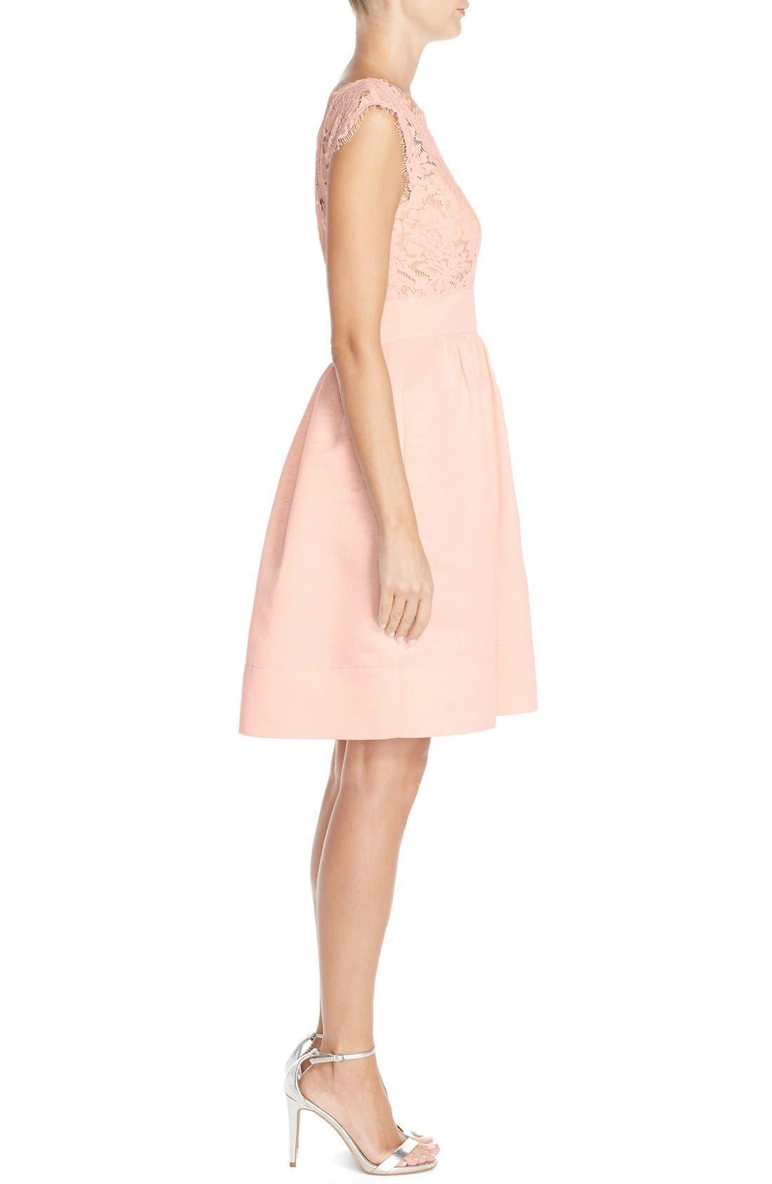 Alternate Image 3  - Eliza J Lace & Faille Dress (Regular & Petite)