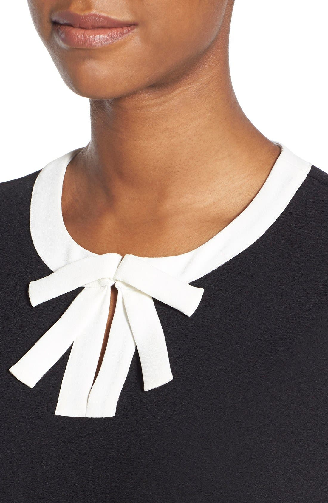 Alternate Image 4  - CeCe by Cynthia Steffe Contrast Bow Crepe Blouse