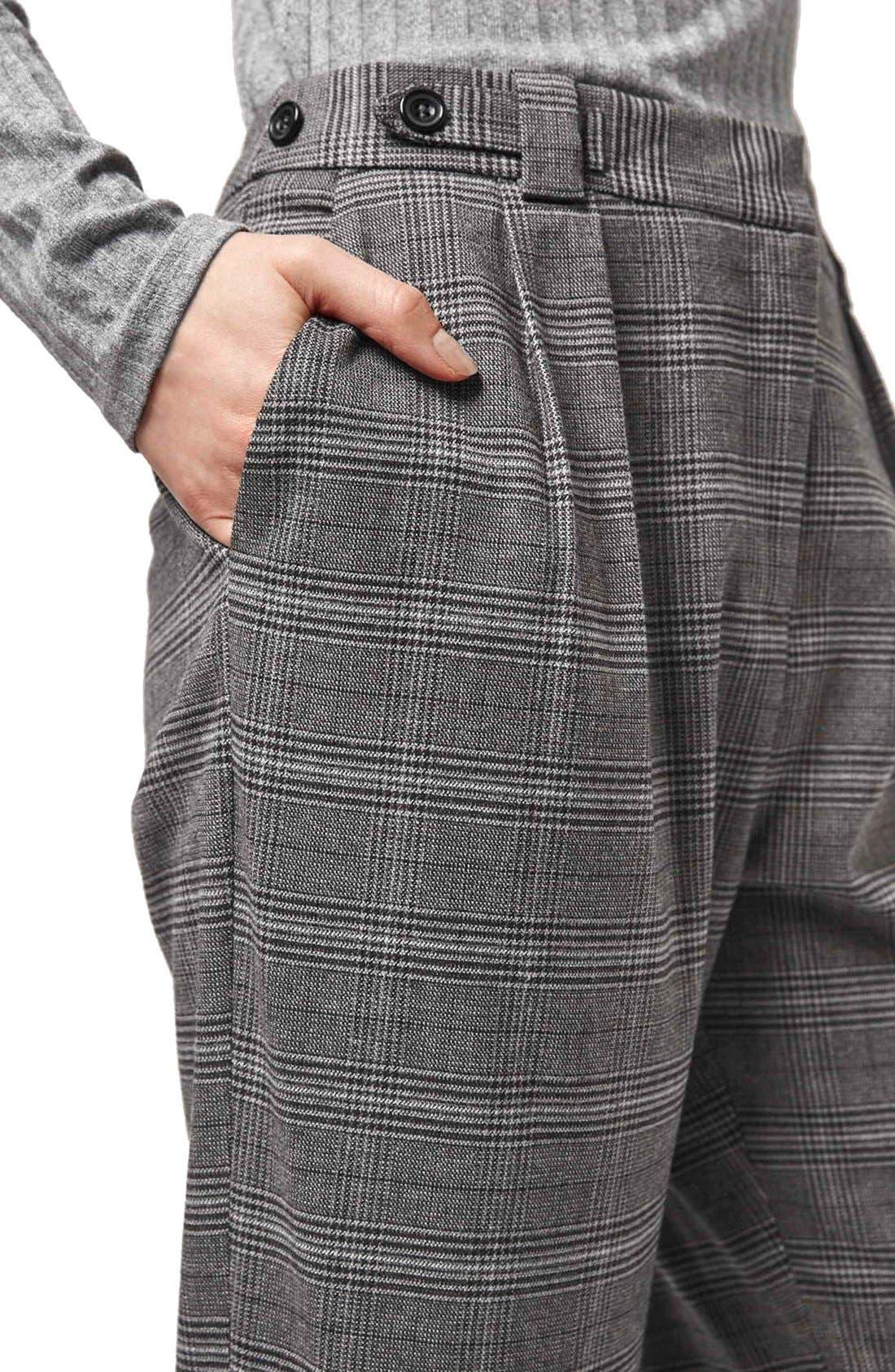 Alternate Image 5  - Topshop Check Crop Pants