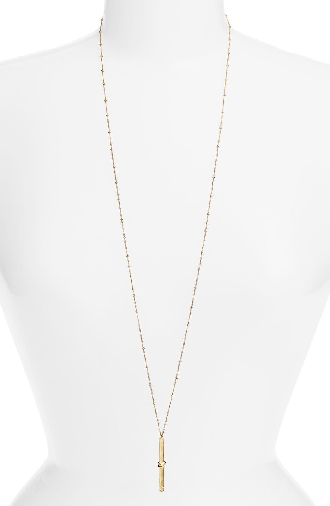 Alternate Image 1 Selected - Tory Burch Wrap Bar Pendant Necklace