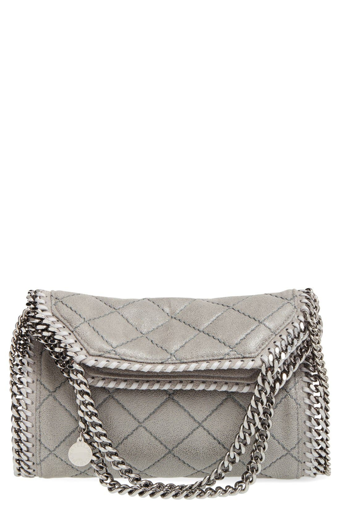 Stella McCartney 'Mini Falabella' Quilted Faux Leather Tote