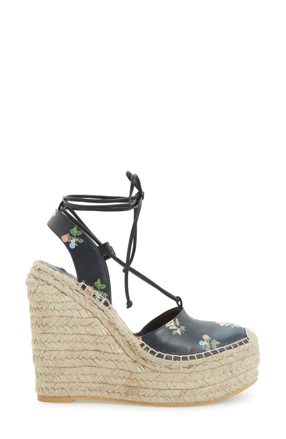 Alternate Image 4  - Saint Laurent Espadrille Wedge Sandal (Women)