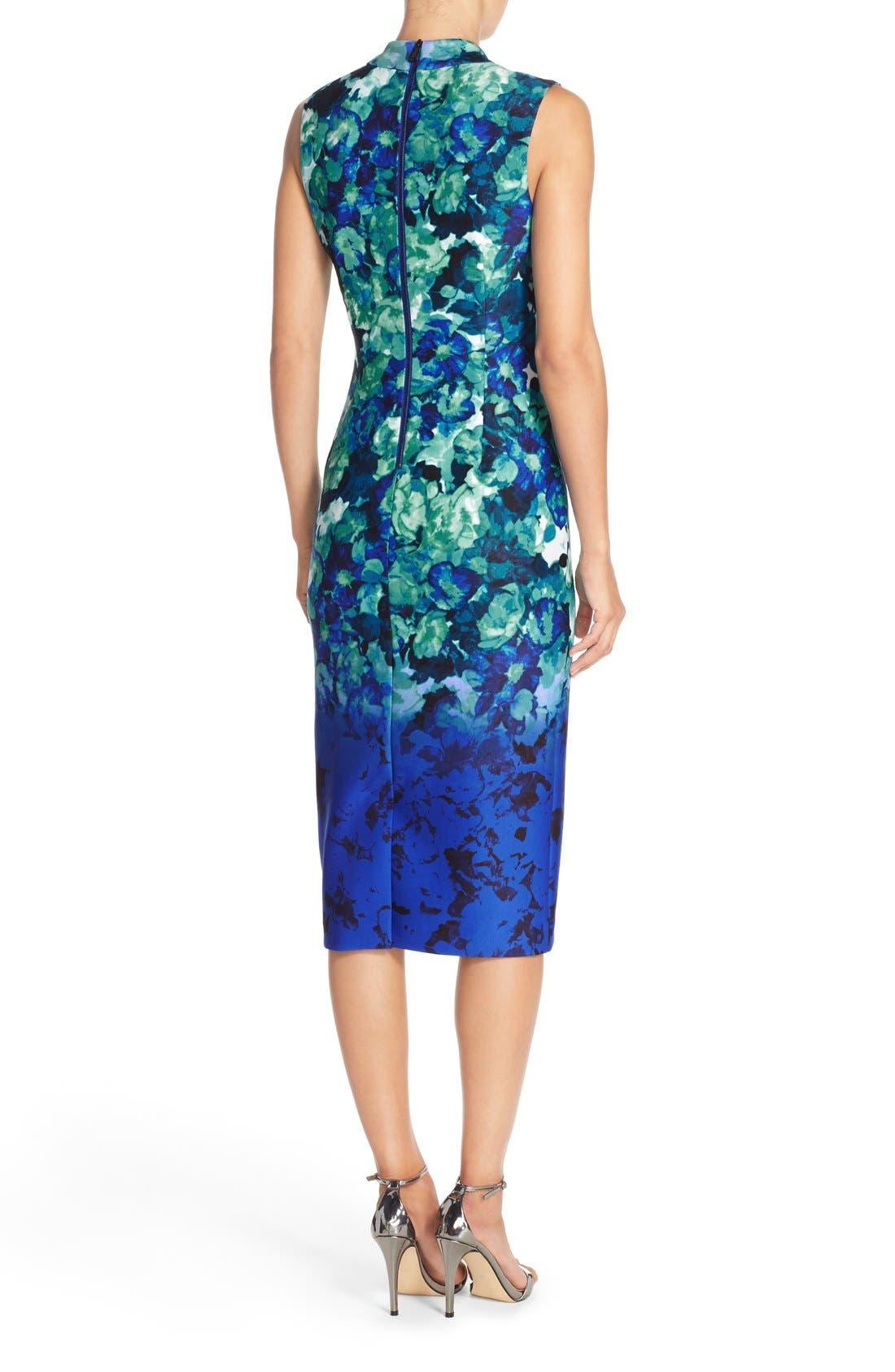 Alternate Image 2  - Vince Camuto Floral Print Scuba Midi Dress