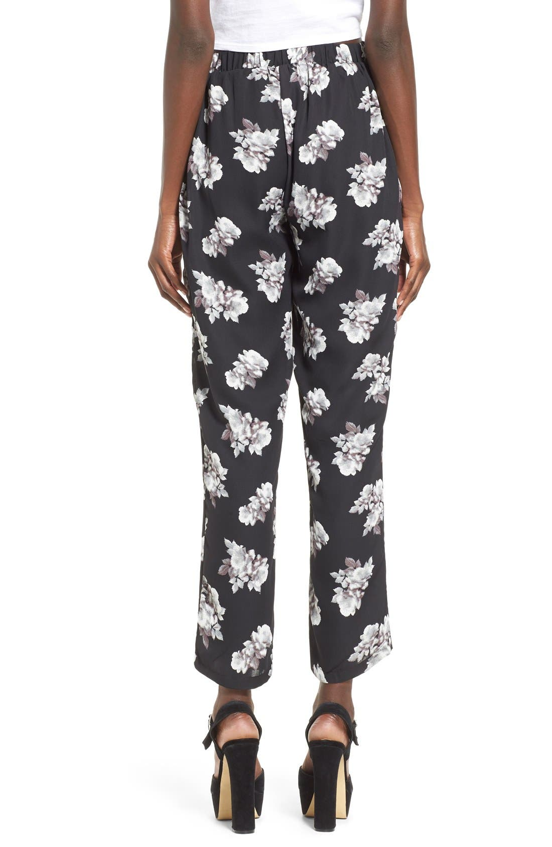 Alternate Image 2  - Leith Floral Print Crop Pants