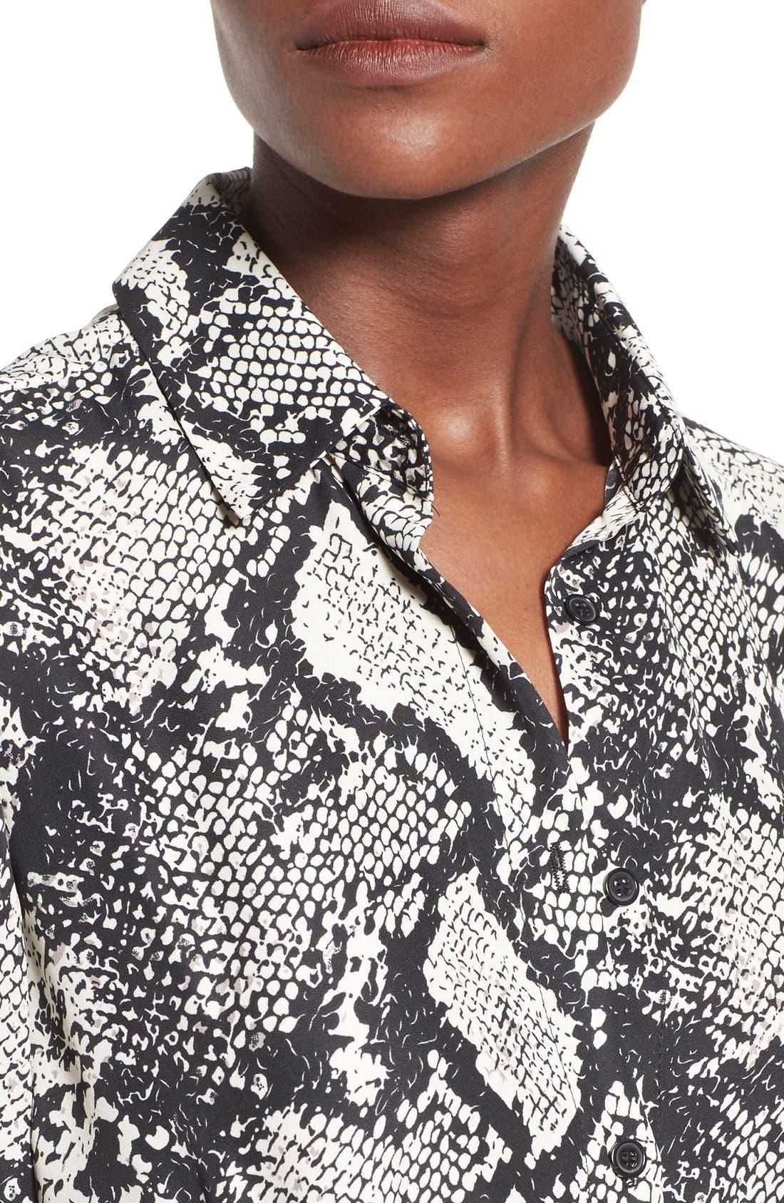 Alternate Image 4  - Missguided Snake Print Shirtdress