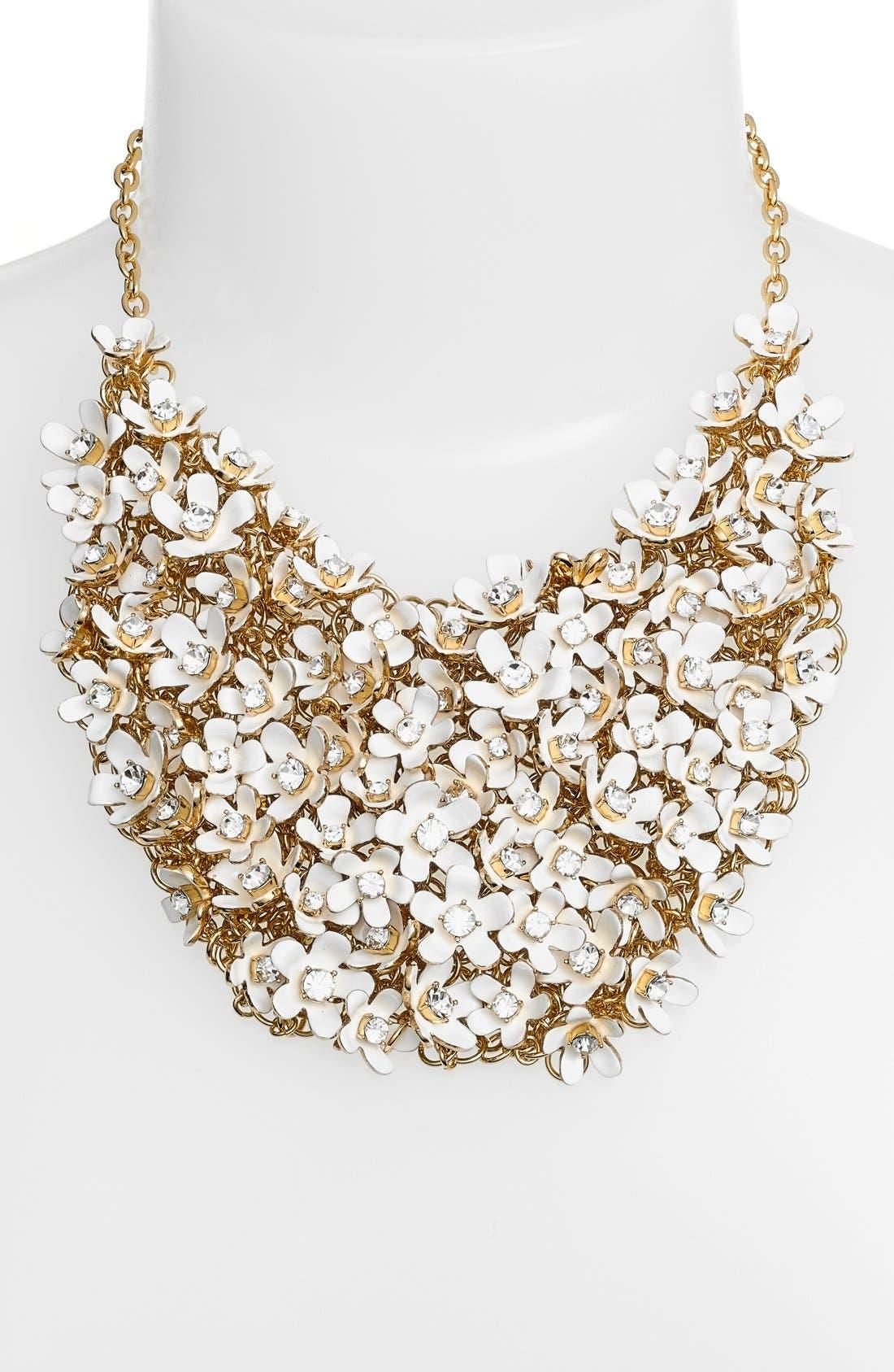 Alternate Image 2  - kate spade new 'pretty petals' embellished bib necklace