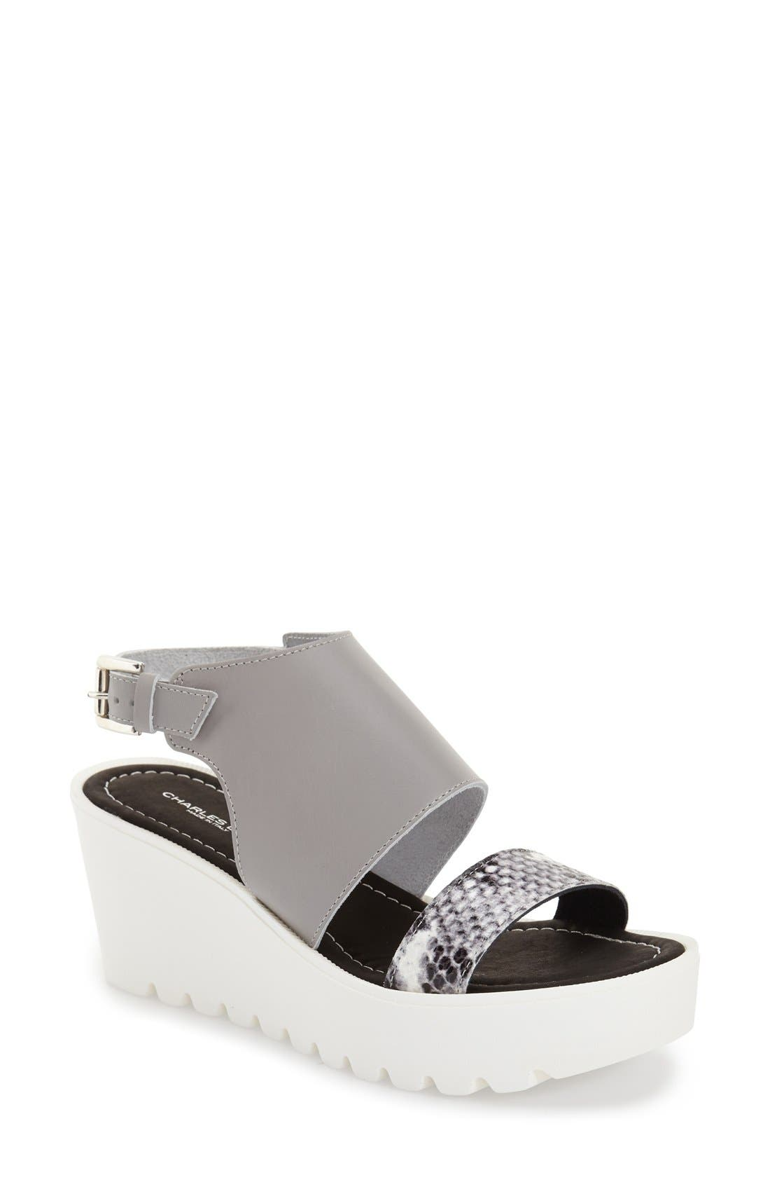 Alternate Image 1 Selected - Charles David 'Apria' Wedge Sandal (Women)