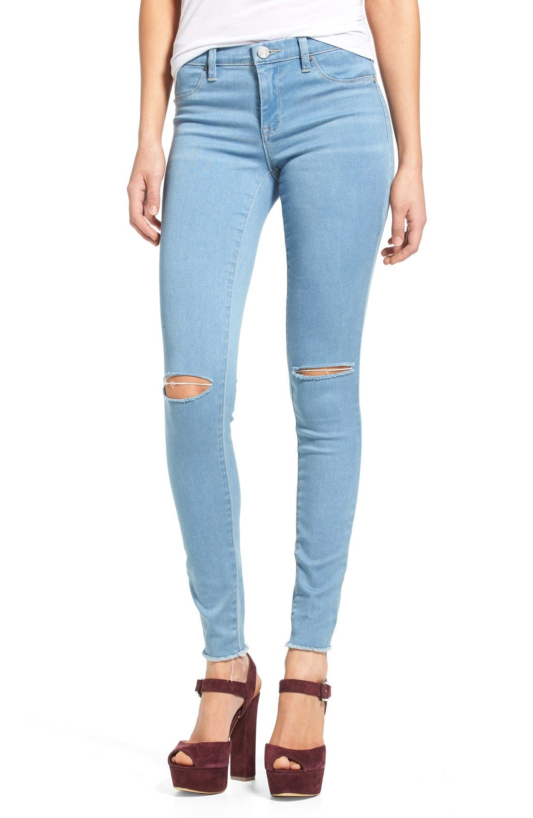 Alternate Image 1 Selected - BLANKNYC Distressed Skinny Jeans
