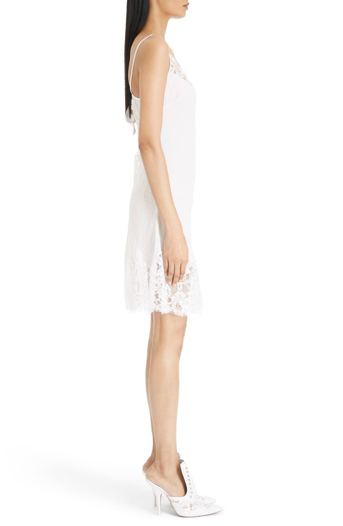 Alternate Image 4  - Givenchy Lace Trim Silk Crepe Dress