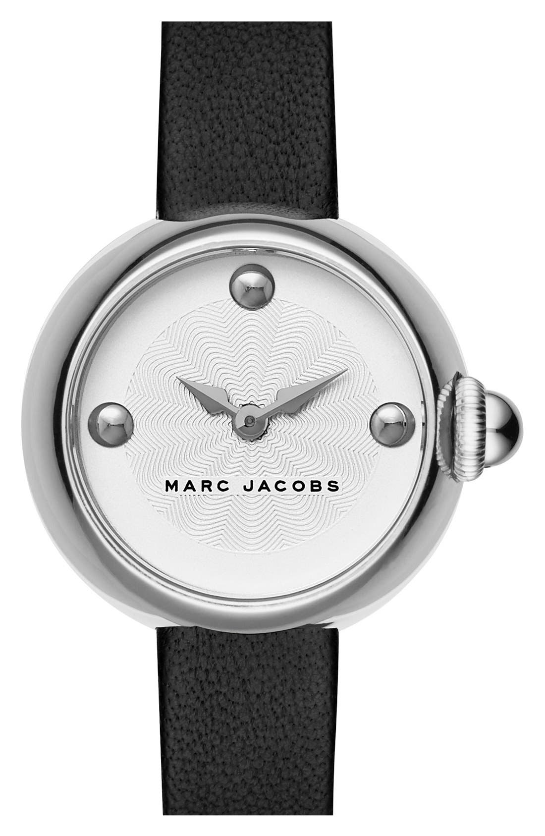 Alternate Image 1 Selected - MARC JACOBS 'Courtney' Leather Strap Watch, 28mm