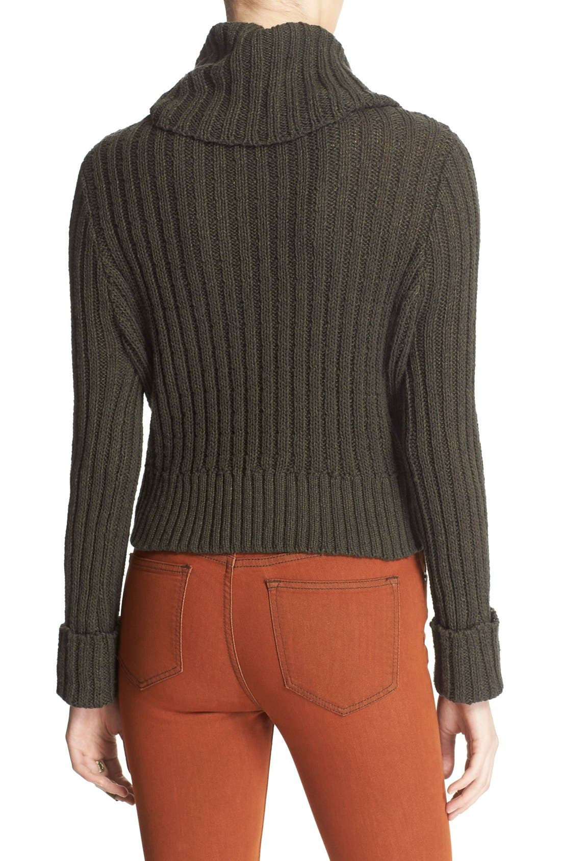 Alternate Image 2  - Free People 'Twisted Cable' Turtleneck Sweater