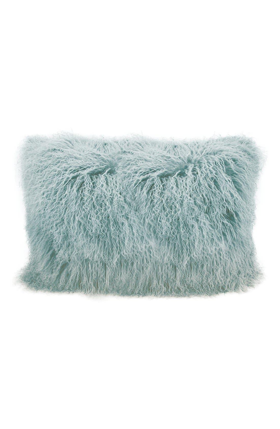 Alternate Image 1 Selected - Mina Victory Genuine Tibetan Shearling Pillow
