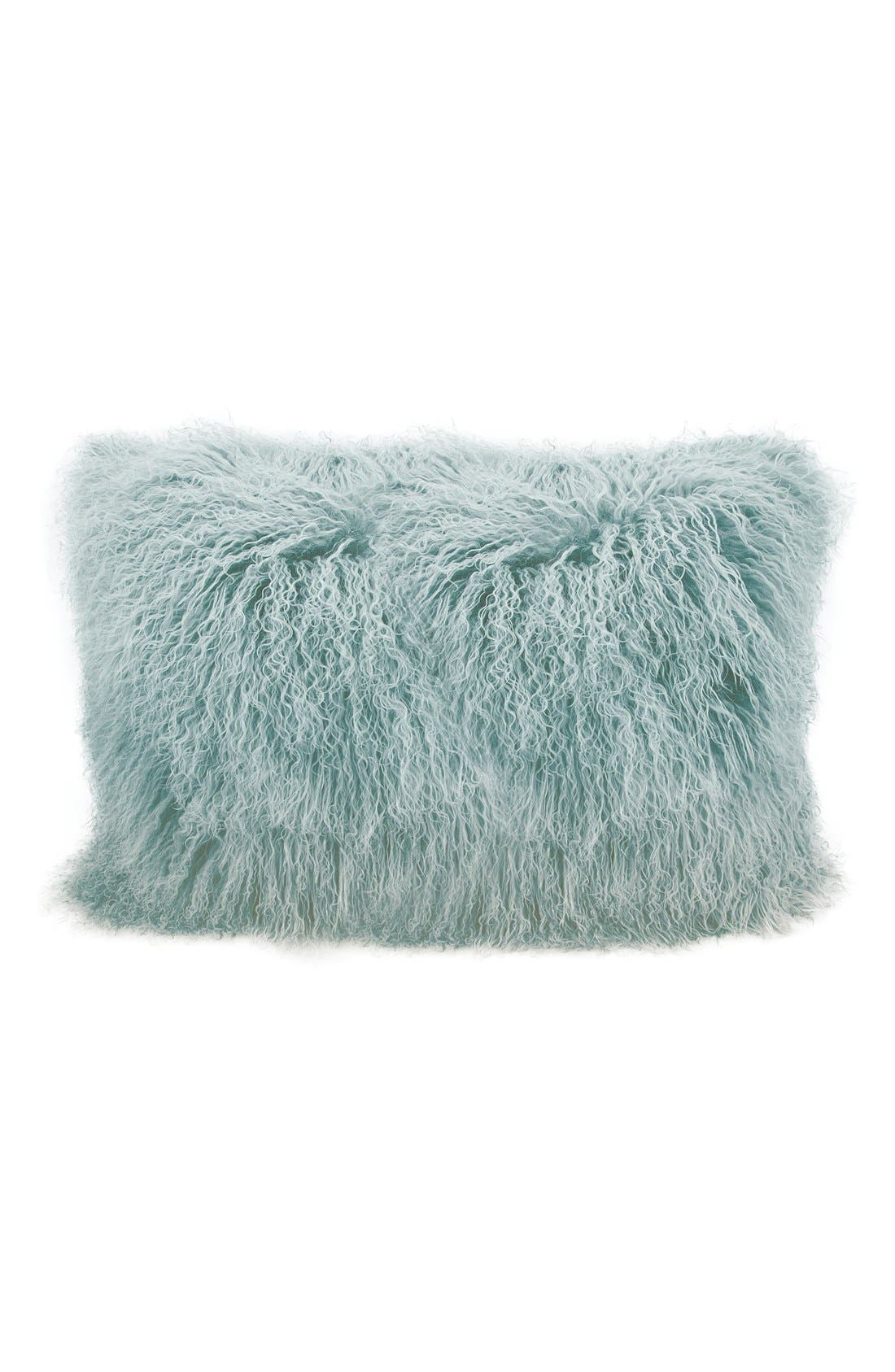 MINA VICTORY Genuine Tibetan Shearling Pillow