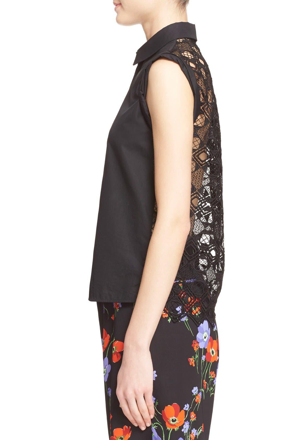 Alternate Image 3  - N°21 'Cassandra' Lace Back Sleeveless Shirt