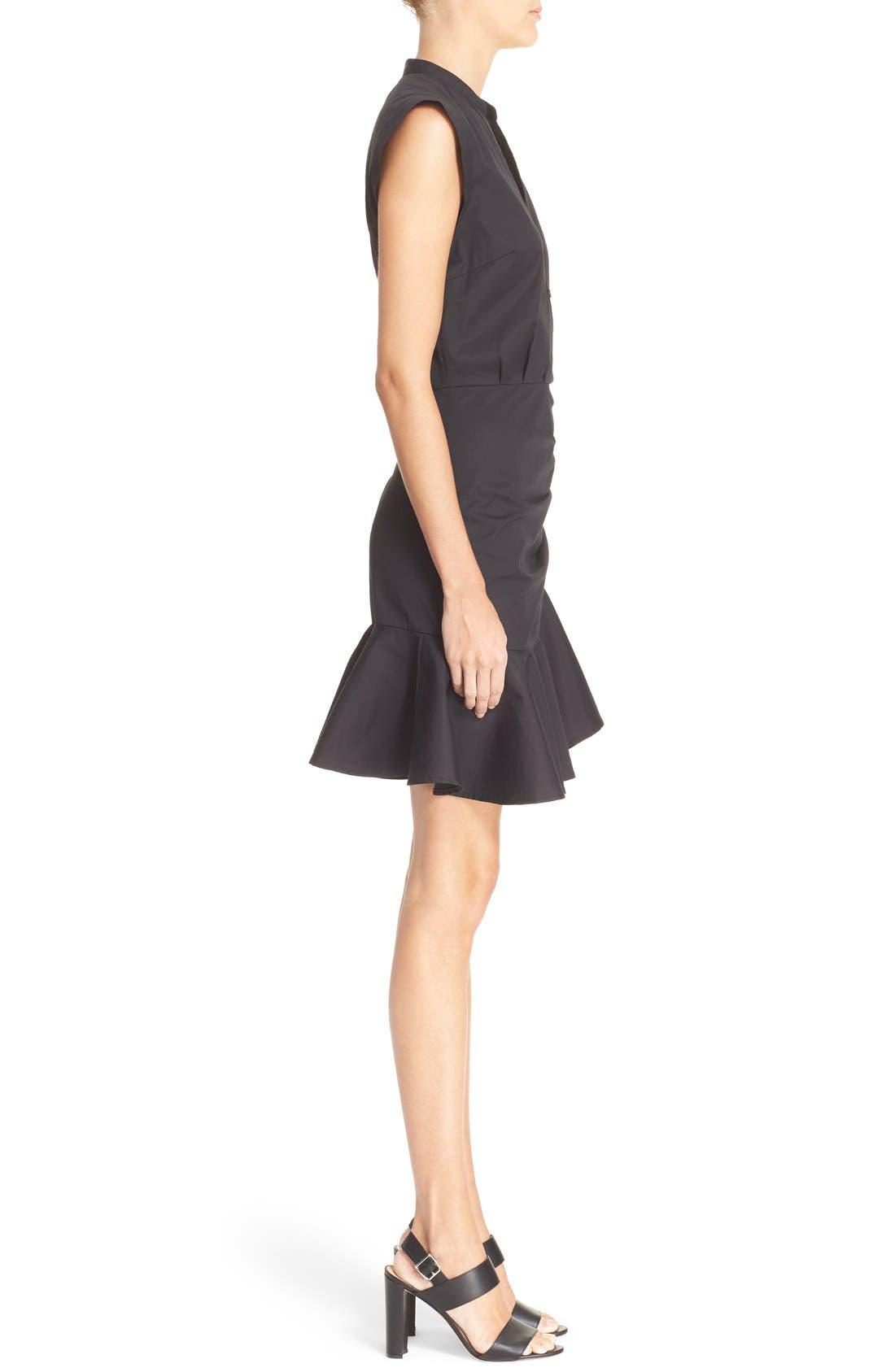 Alternate Image 3  - Veronica Beard 'Fountain' Cap Sleeve Ruched Dress