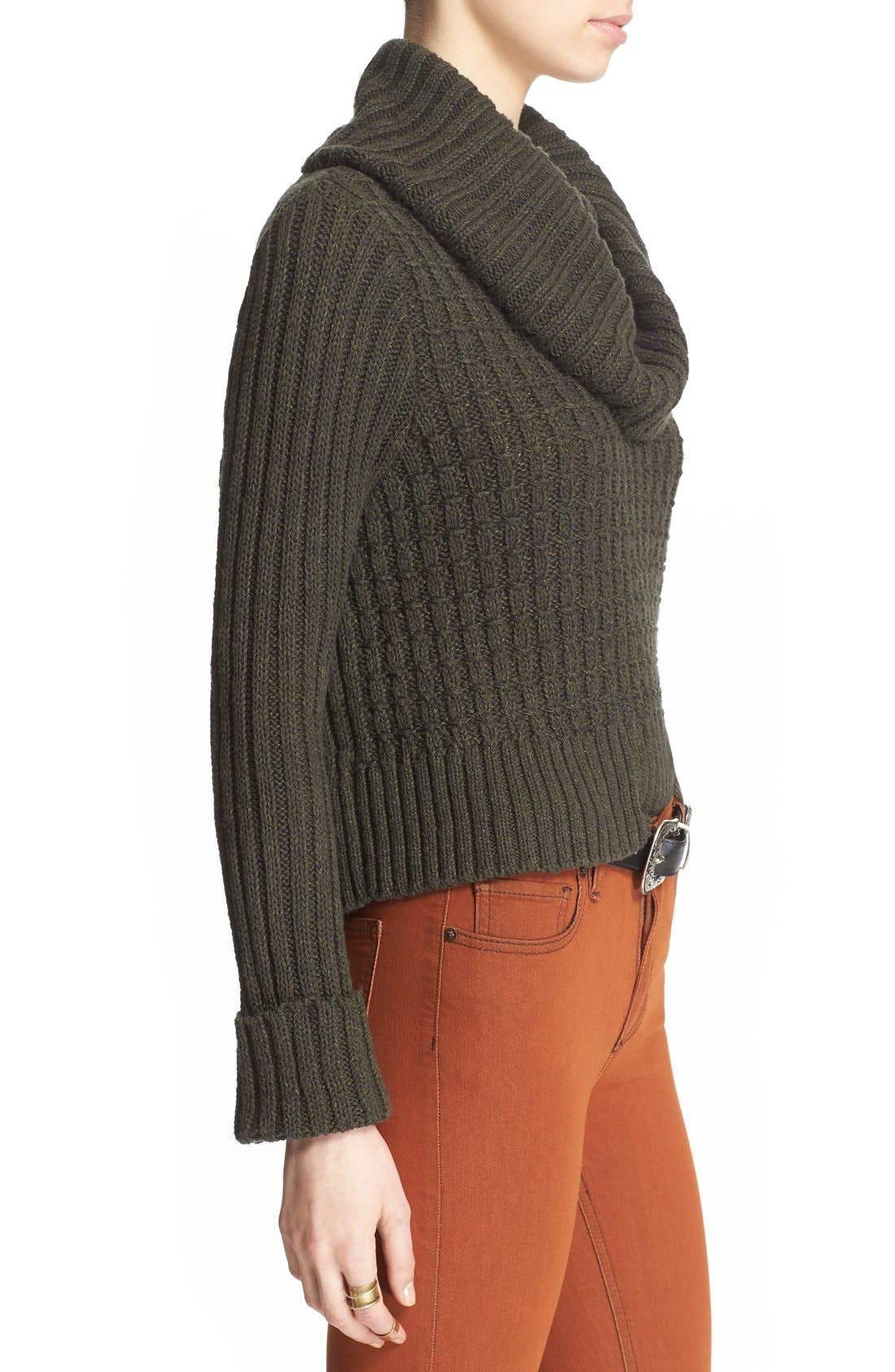 Alternate Image 3  - Free People 'Twisted Cable' Turtleneck Sweater