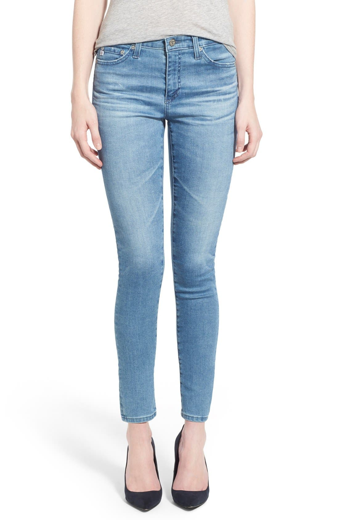 Main Image - AG 'Middi' Ankle Skinny Jeans (15 Year LiberatingBeat)