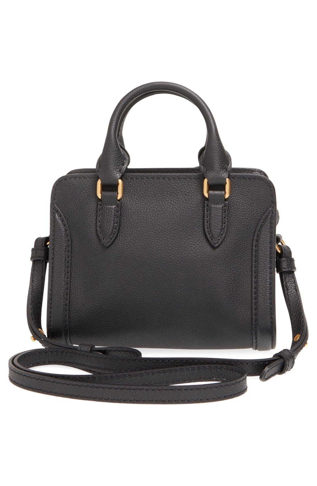 Alternate Image 3  - Alexander McQueen 'Mini Padlock' Calfskin Leather Satchel