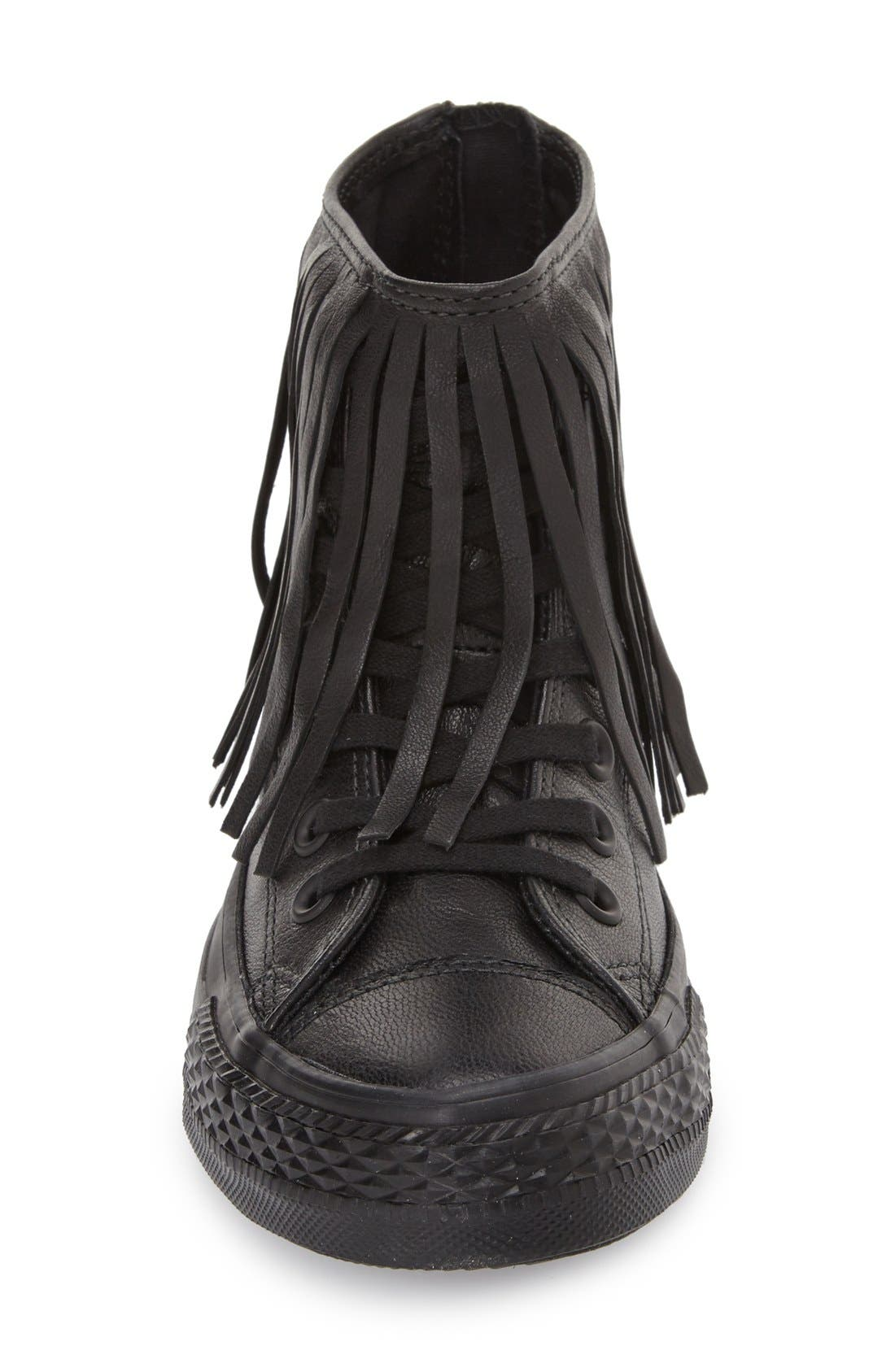Alternate Image 3  - Converse Chuck Taylor® All Star® Fringe Leather High Top Sneaker (Women)