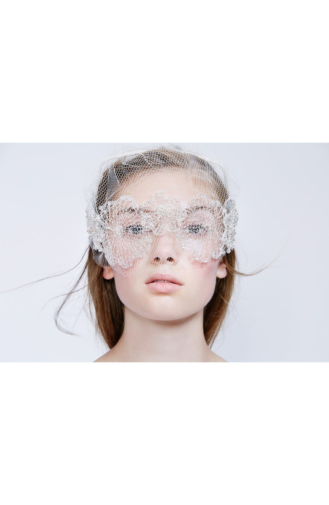 Alternate Image 2  - Colette Malouf Headband with Floral Tulle Veil