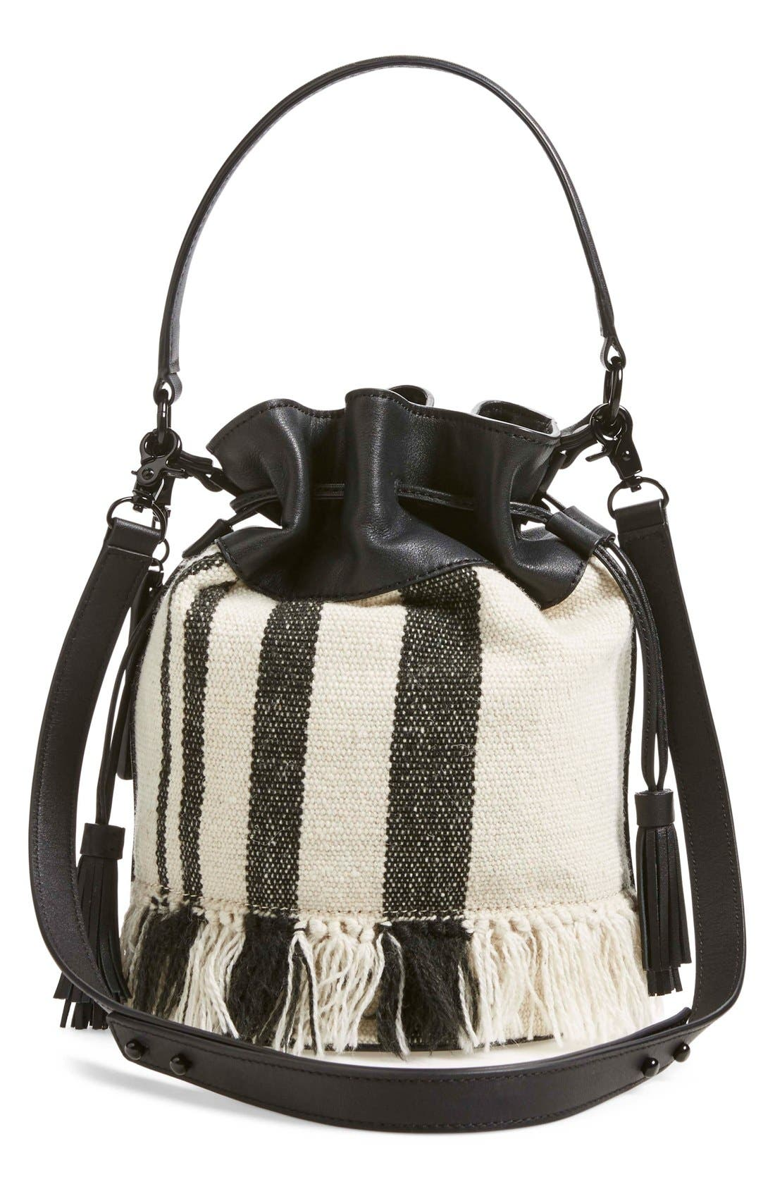 Alternate Image 3  - Loeffler Randall Woven Canvas & Nappa Leather Bucket Bag
