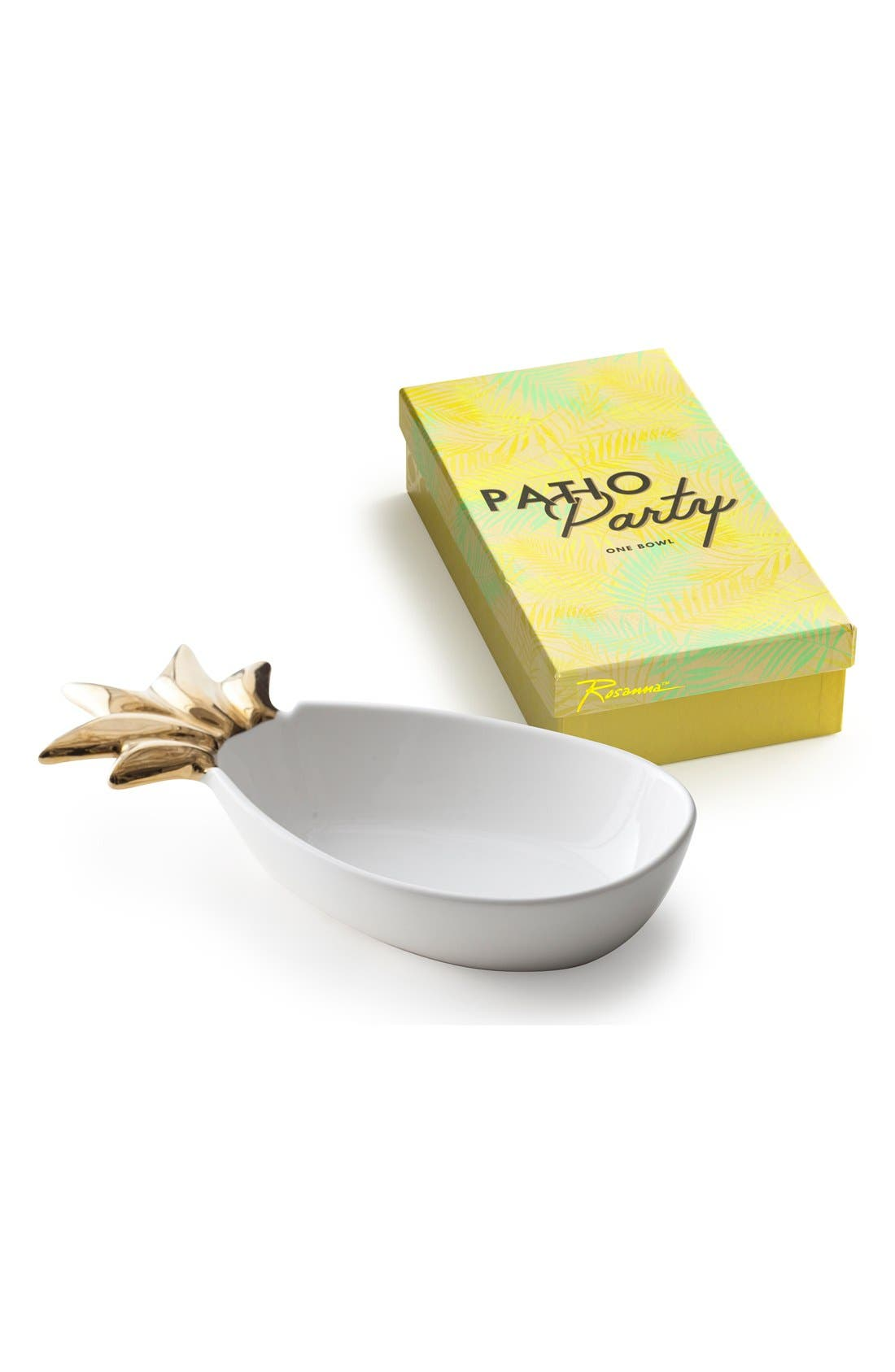 Rosanna Pineapple Porcelain Serving Tray