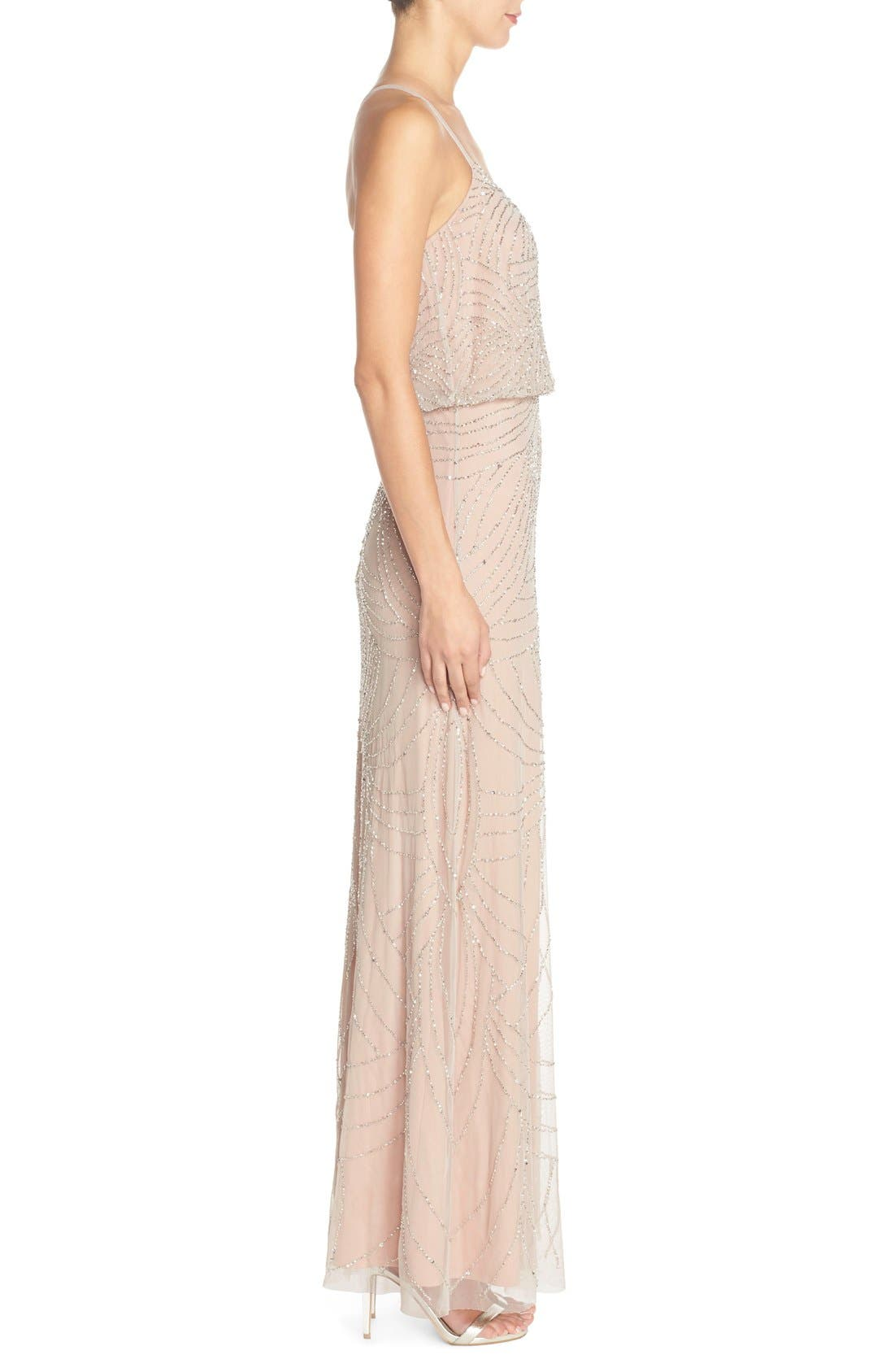 Alternate Image 3  - Adrianna Papell Beaded Chiffon Blouson Gown