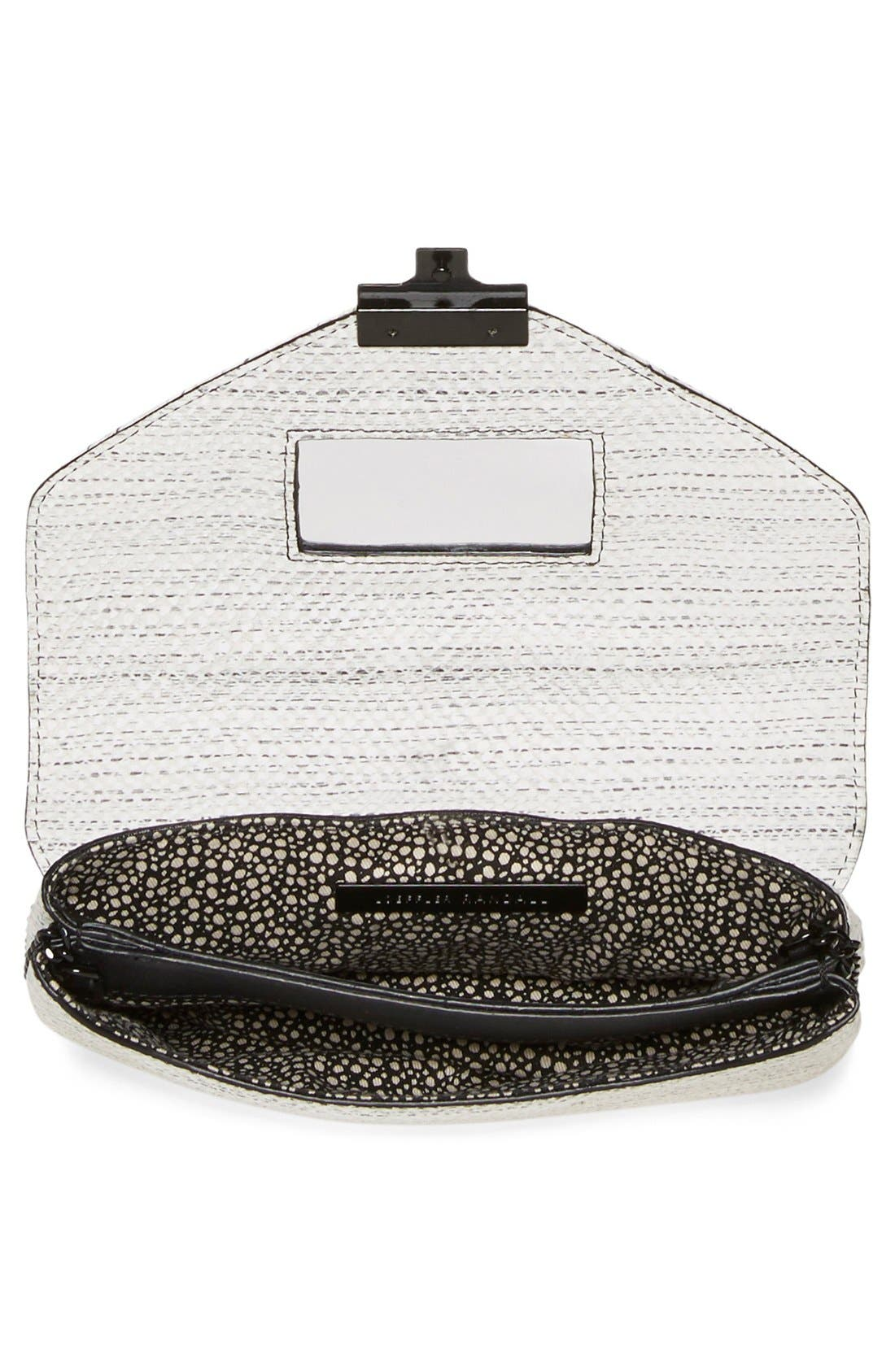 Alternate Image 4  - Loeffler Randall 'Junior Lock' Leather Envelope Clutch